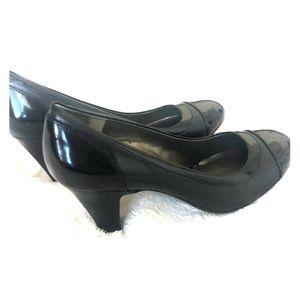 ❤️Naturalizer N5 Comfort Leather black heels. 8W